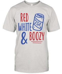 Womens Red White Boozy Funny Beer Booze 4th Of July Party Gift T shirt