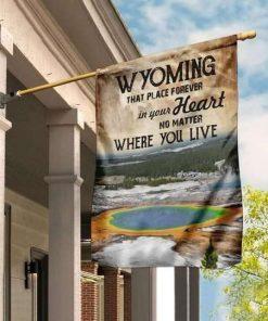 Wyoming Forever In Your Heart Flag Garden Flag