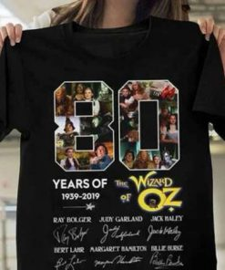 80 Years of The Wizard of oz 1939 2019 Signatures T-Shirt