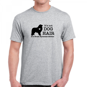 Its Not Dog Hair Its Great Pyrenees Heart Glitter Funny Cotton Gray T Shirt