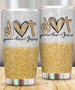 Peace Love Jesus Tumbler