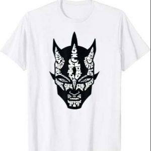 Star Wars Darth Maul Word Play White T Shirt