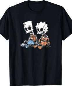 The Simpsons Bart And Lisa Skeletons T-Shirt