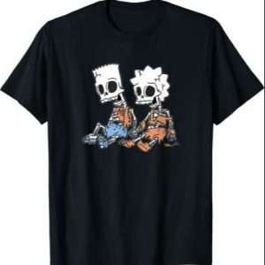 The Simpsons Bart And Lisa Skeletons T Shirt