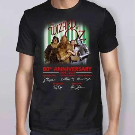 The Wizard of oz 80th Anniversary Signature T-Shirt
