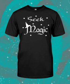 Seek Magic A Witch On The Halloween Women T-Shirt