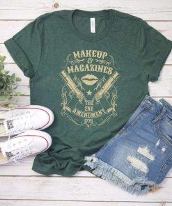 2nd Amendment Makeup Gun Rights T-Shirt