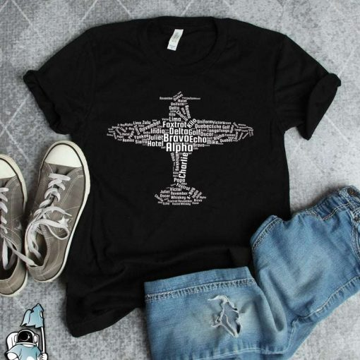 Aviation Alphabet Phonetic Alphabet Flying Pilot Gift  For Pilot T-Shirt