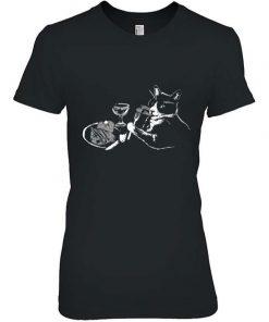 Cat Eating Steak Dinner Men T-Shirt