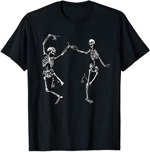 Dancing Skeletons Vintage Day Of The Dead Halloween 2021 T-Shirt