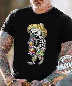 Day Of The Dead Bearded Sugar Skull Halloween Skull T-Shirt
