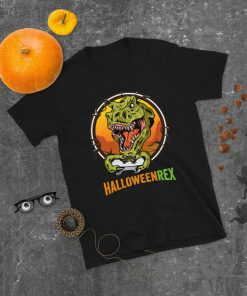 Halloween 2021 For Gamer Halloweenrex Vintage Retro Halloween Day T-Shirt