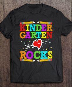 Kindergarten Rocks Teacher Student Kid Back To School Shirt
