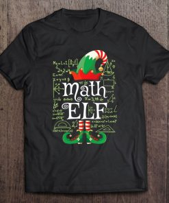 Math Elf Gift Funny Costume Matching Elf Christmas T-Shirt