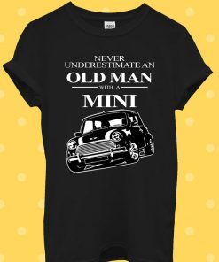 Old Man With Classic Mini T-Shirt