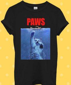 Paws Cat Kitten Meow Parody Hipster T-Shirt
