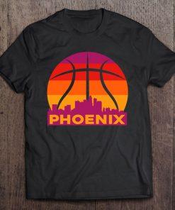 Phoenix Basketball B Ball City Arizona State Retro Vintage Shirt