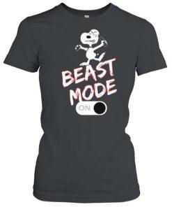 Snoopy Beast Mode On T Shirt 1