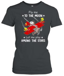 Snoopy Fly Me To The Moon Let Me Play Among The Stars T Shirt 1