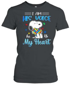 Snoopy I Am His Voice He Is My Heart Autism T Shirt 1