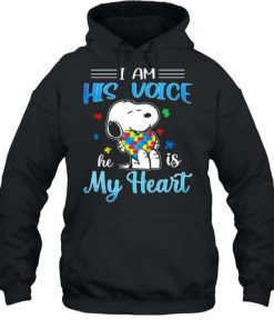 Snoopy I Am His Voice He Is My Heart Autism T Shirt 2
