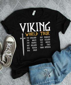Viking World Tour Funny Viking Gift Norse Mythology Viking T-Shirt