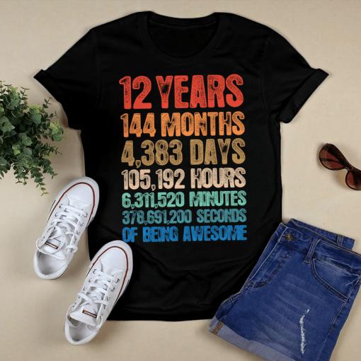 12th Birthday Twelve Year Old Birthday Boy Girl T-Shirt