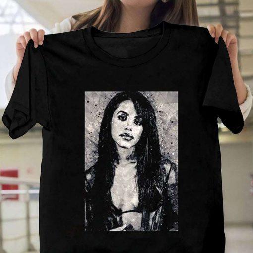 Aaliyah Geometric Art Print T-Shirt