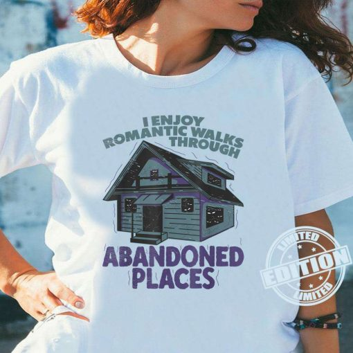Abandoned Places Haunted Spooky Scary House Creepy Halloween White T-Shirt
