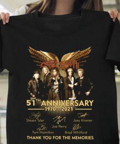 Aerosmith 51th Anniversary 1970-2021 T-Shirt