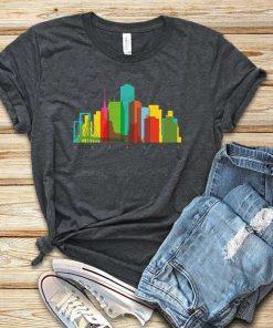 Detroit Watercolor Skyline T-Shirt