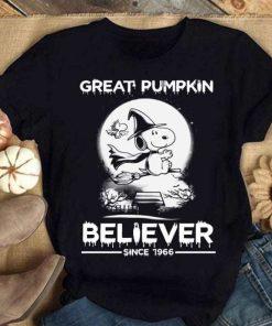 Great Pumpkin Believer since 1966 Snoopy T-Shirt