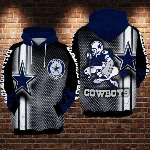 Horse Dallas Cowboys NFL 3D Hoodie