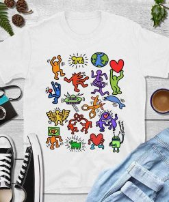 Keith haring Earth Unisex T-Shirt