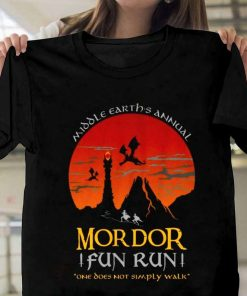 Mordor Fun Run Inspired By The Lord Of The Rings T-Shirt