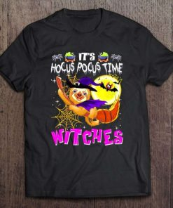 Sloth Witch It's Hocus Pocus Time Witches Halloween T-Shirt