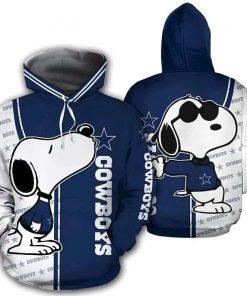 Snoopy Dallas Cowboys NFL 3D Hoodie