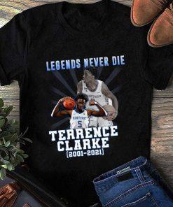 Terrence Clarke Signature 2001 2021, Rip Terrence Clarkenba Draft T-Shirt