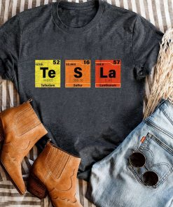 Tesla Periodic Table Te S La T-Shirt