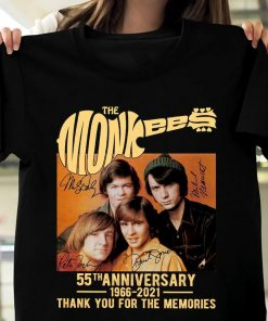 The Monkees Guitar 55th Anniversary 1966-2021 Signatures Unisex T Shirt