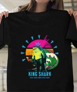 The Suicide Squad Movie King Shark Navy T-Shirt