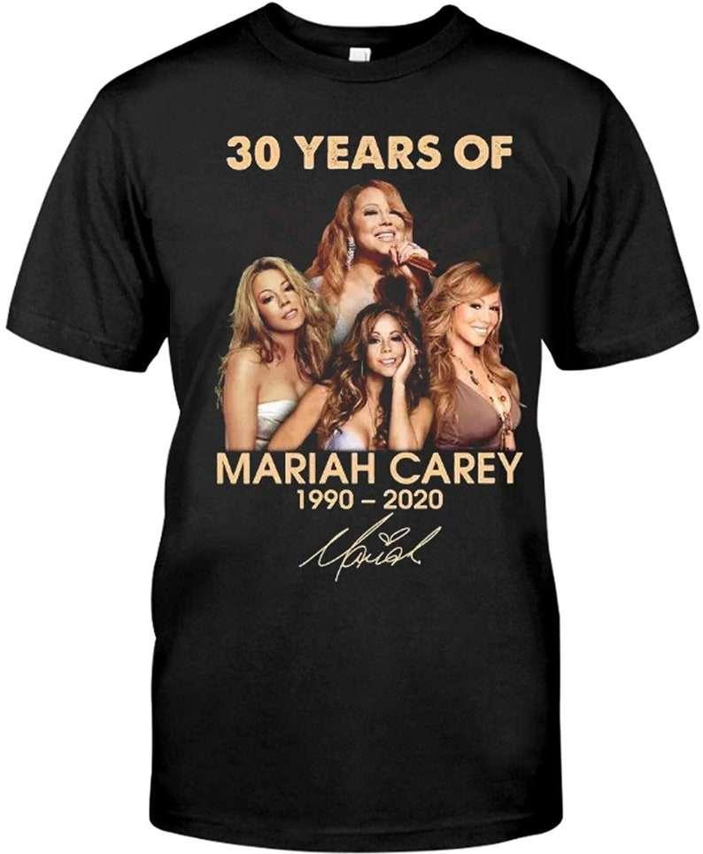 30 Years Of-Mariah-Carey-1990-2020-Signature T-Shirt