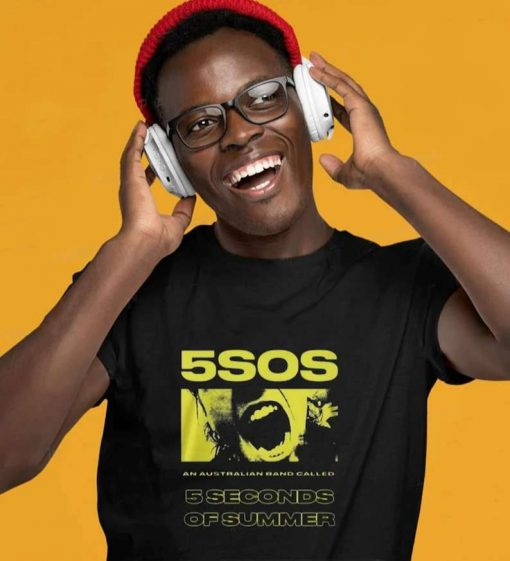5SOS 5 Seconds Of Summer Unisex Printed Premium T-Shirt
