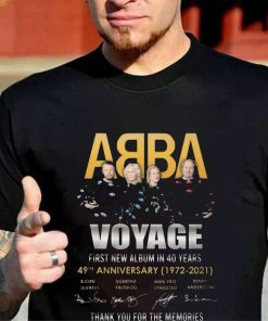 ABBA Band Voyage First New Album 49th Anniversary 1972 2021 Signatures Thank You For The Memories T-Shirt
