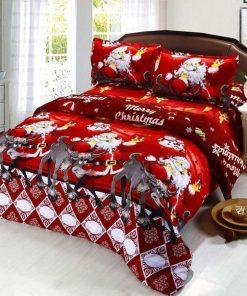 Anself Merry Christmas Bedding Set