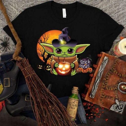 Baby Yoda Halloween Pumpkin T-Shirt