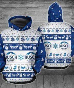 Busch Light Ugly Christmas 3D Hoodie
