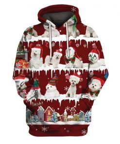 Christmas Bichon Snow Christmas Unisex 3D Hoodie