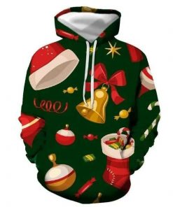 Christmas Green Awesome Unisex 3D Hoodie