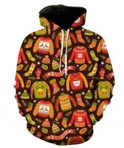 Christmas Hat Pattern 3D Hoodie